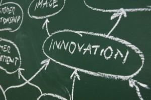 The Word Innovation written on a chalkboard